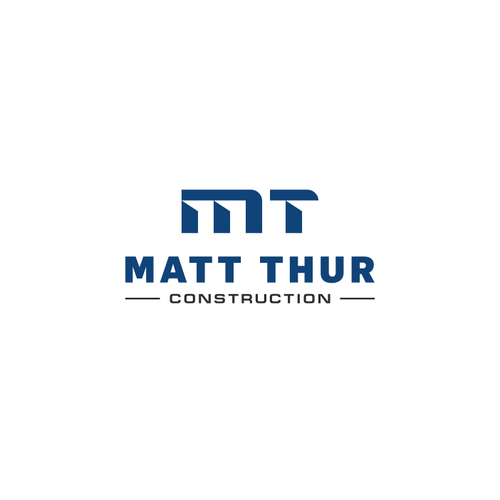 Bold logo for construction company