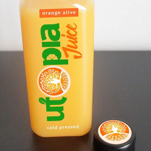 Utopia Juice label