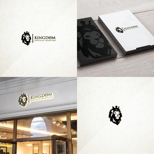 Luxurious lion logo for Kingdom Physical Medicine.
