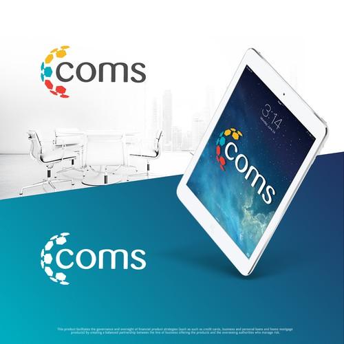 """Logo concept for """"coms"""" company"""