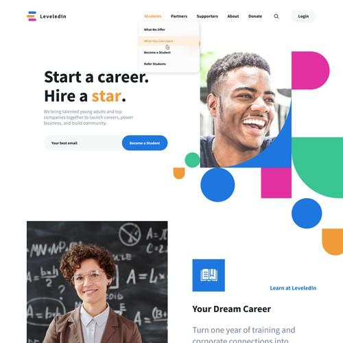 Web design for LeveledIn