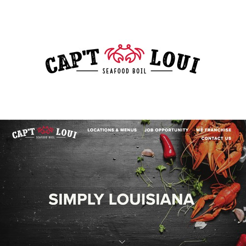 Logo for cajun style seafood boil restaurant