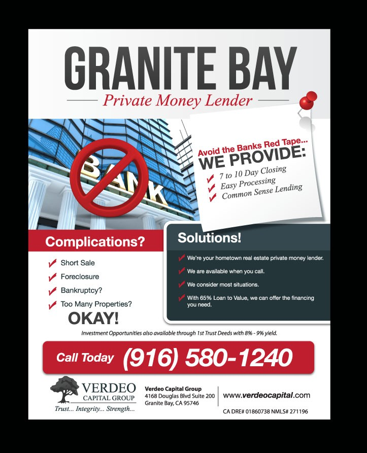 Create 1/4 Page Magazine Ad for Private Money Lender