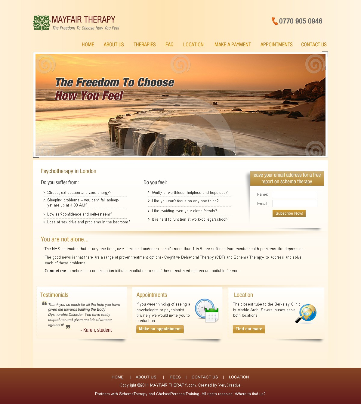 Mayfairtherapy needs a new website design