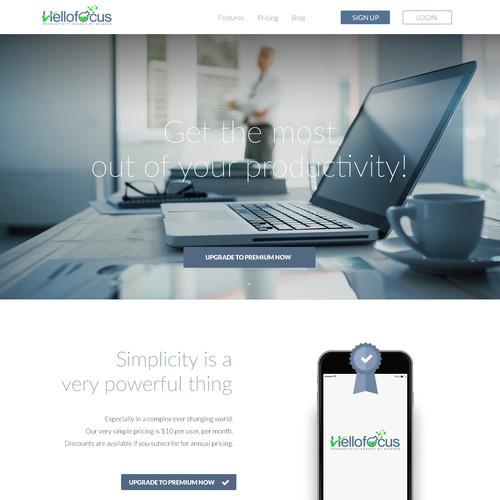 Light website for mobbile app