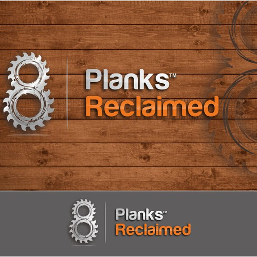 Bold and rustic Logo for Planks Reclaimed