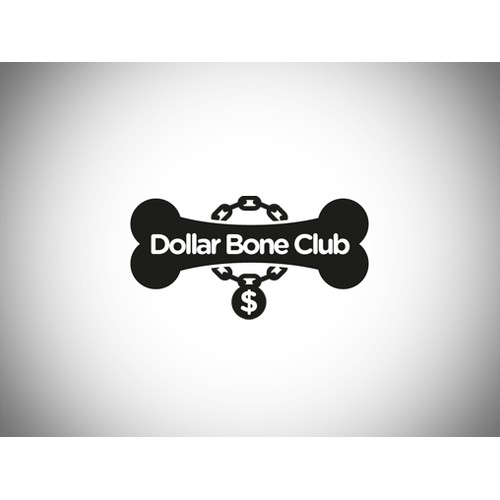 Create the logo for the Dollar Bone Club (a dog treat subscription service)