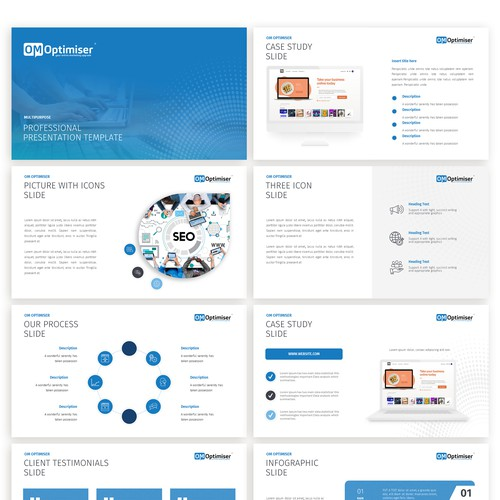 a modern & simple PowerPoint template