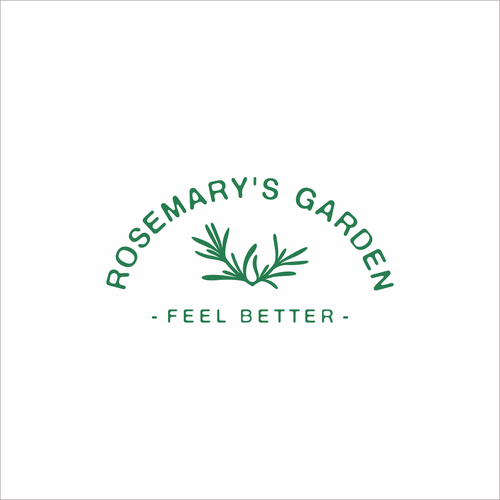 Very, very simple logo for Rosemary's Garden, an Herbal Apothecary
