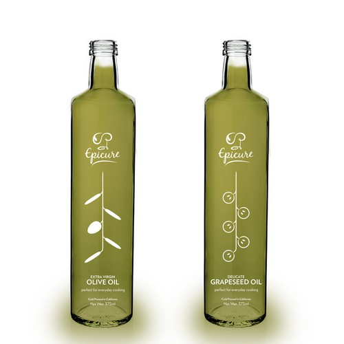 Label design for olive and grapeseed oil