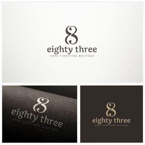Elegant logo design for eighty three