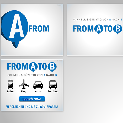 From A to B animated flash banners