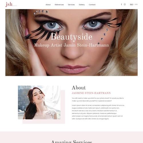 Website of a makeup artist.