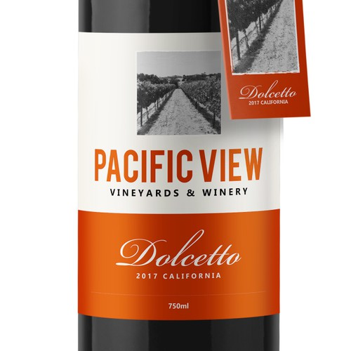 Pacific View Wine Label