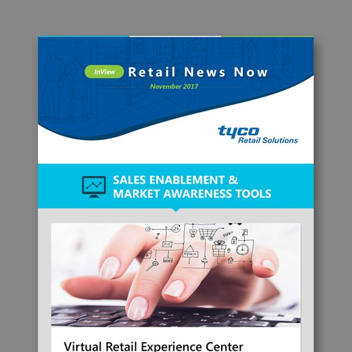Newsletter Template Design for Tyco Retail Solutions