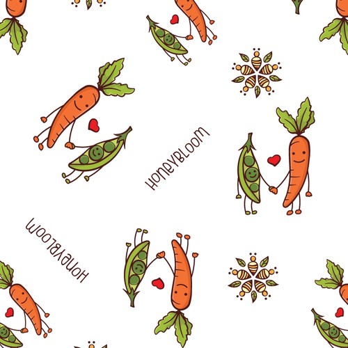 Pattern design for food wrapping paper.