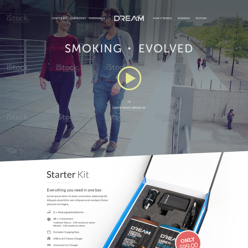 Home Page for Dream - Mock up included - Guaranteed.