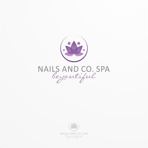 Create an elegant logo for a high end nail salon and spa