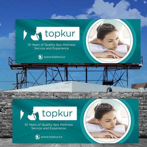 Online Spa Vacation Billboard