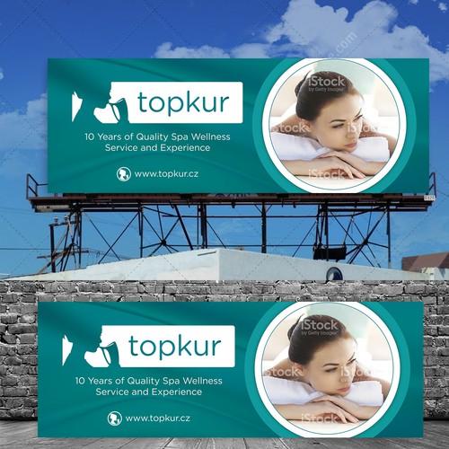 Online Spa Vacation Billboard