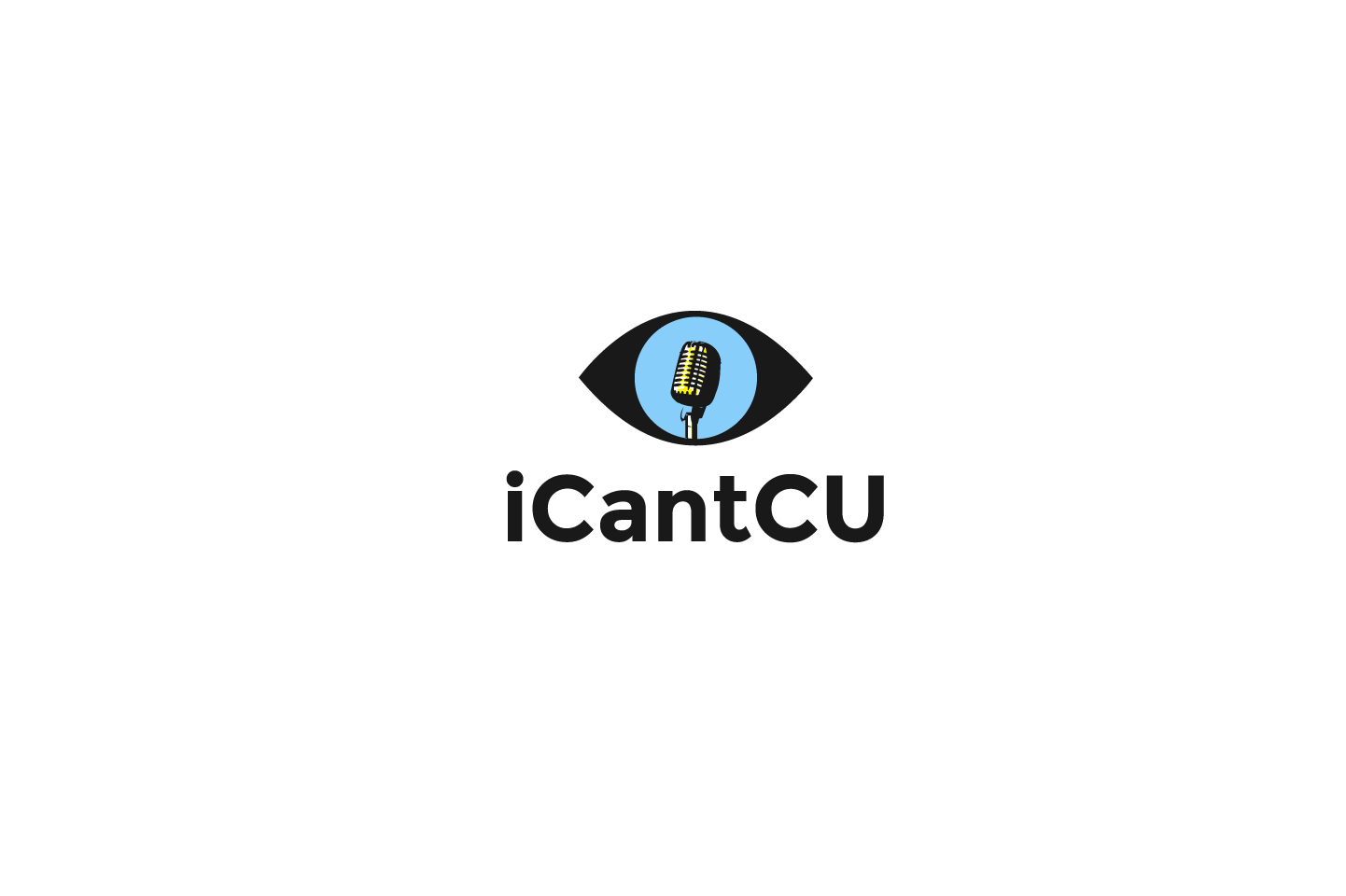 Design a new modern logo for iCantCU podcast and website.