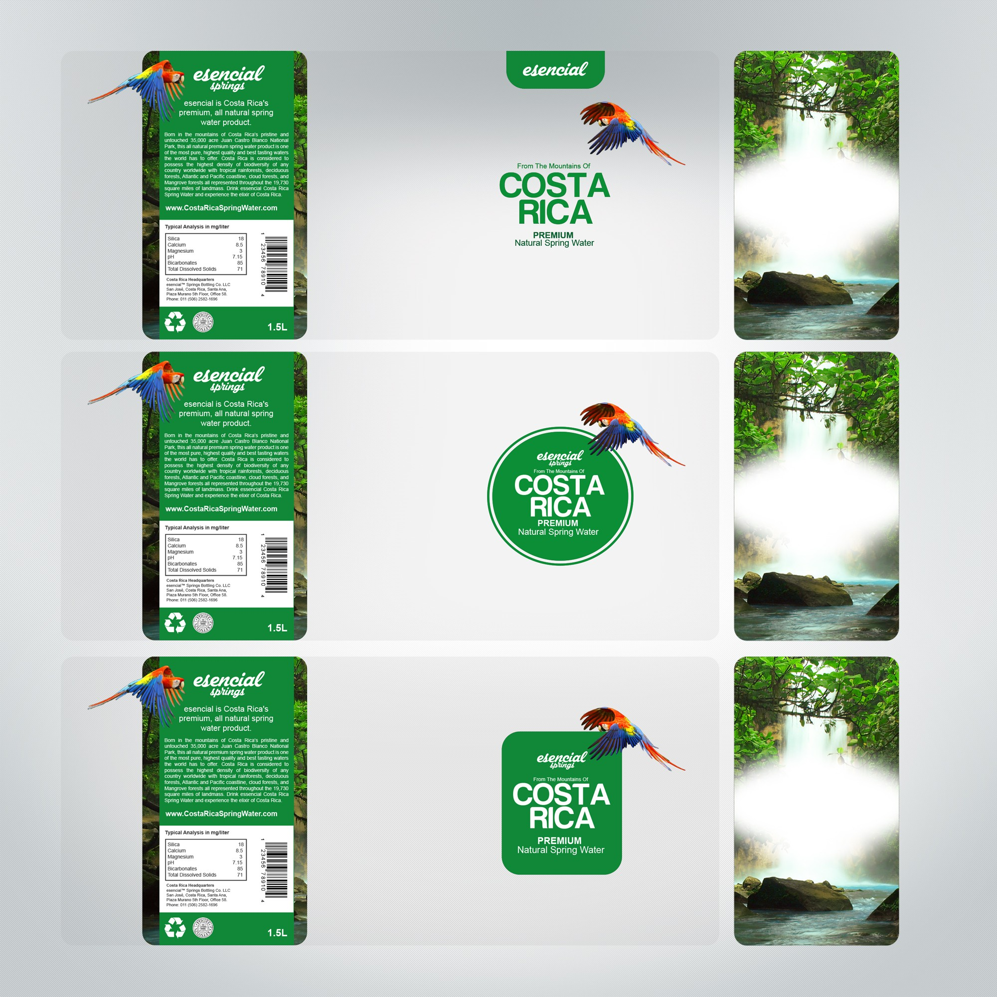 Help me develop the world's first Costa Rica branded bottled water