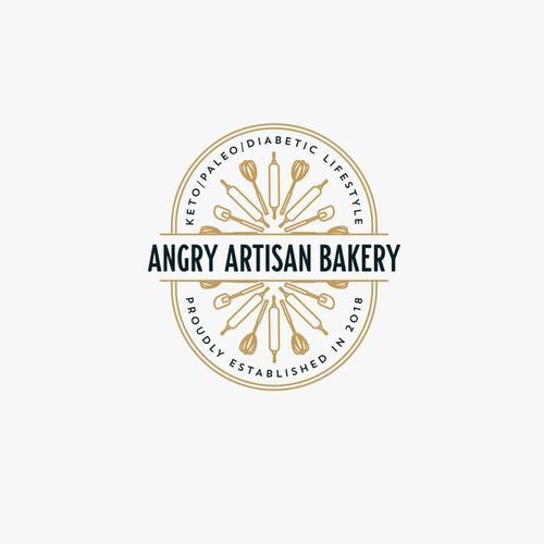 Angry Artisan Bakery Logo