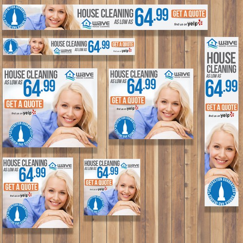 Clean design for House Cleaning Company