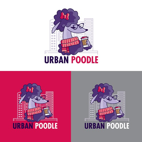 Logo designed for a company specific to all poodle-related goods.