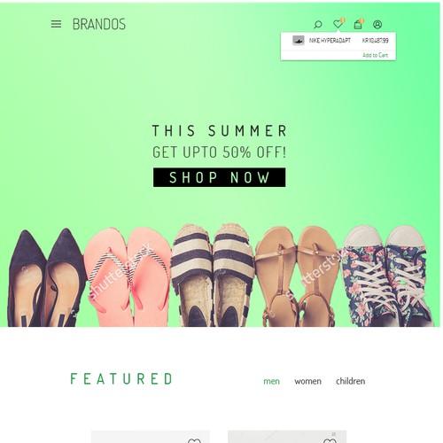 Brandos web design Contest Entry