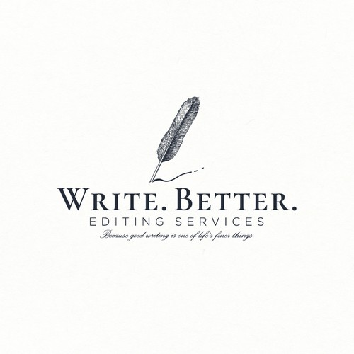 Logo design for a writer
