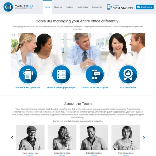 Cable Blu Website design