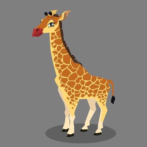 character giraffe illustration