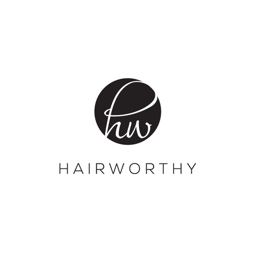 Eye catching logo for hair care products.