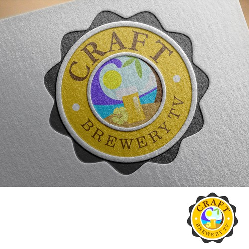 logo concept for Craft brewery TV