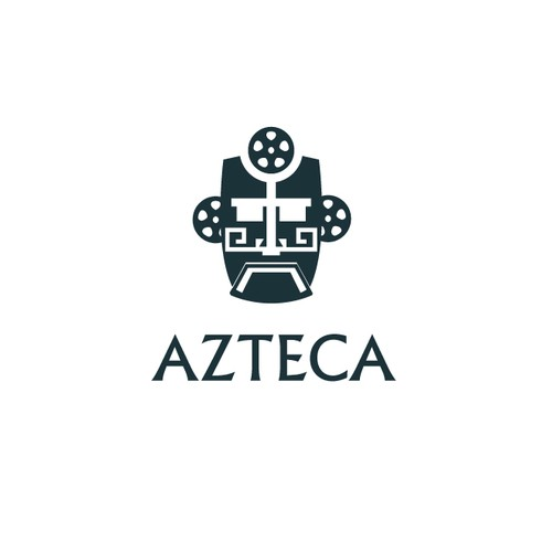 Aztec themes cinema logo concept