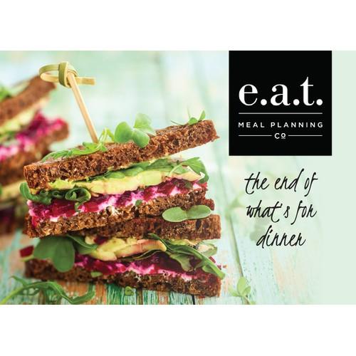 E.a.t postcard design