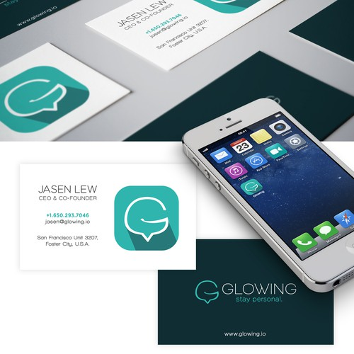 Glowing.io Logo & Identity Design