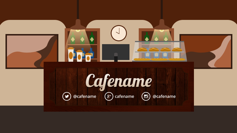 Facebook cover template for cafes