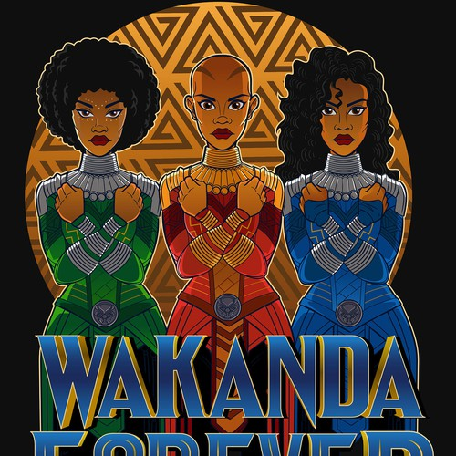 Marvels black panther theme T-shirt