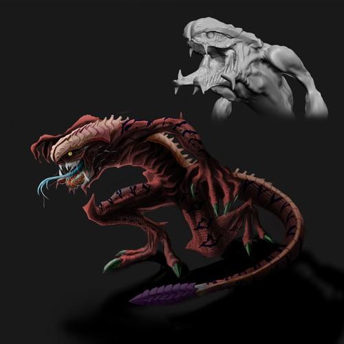 Reptile alien concept 2D & 3D