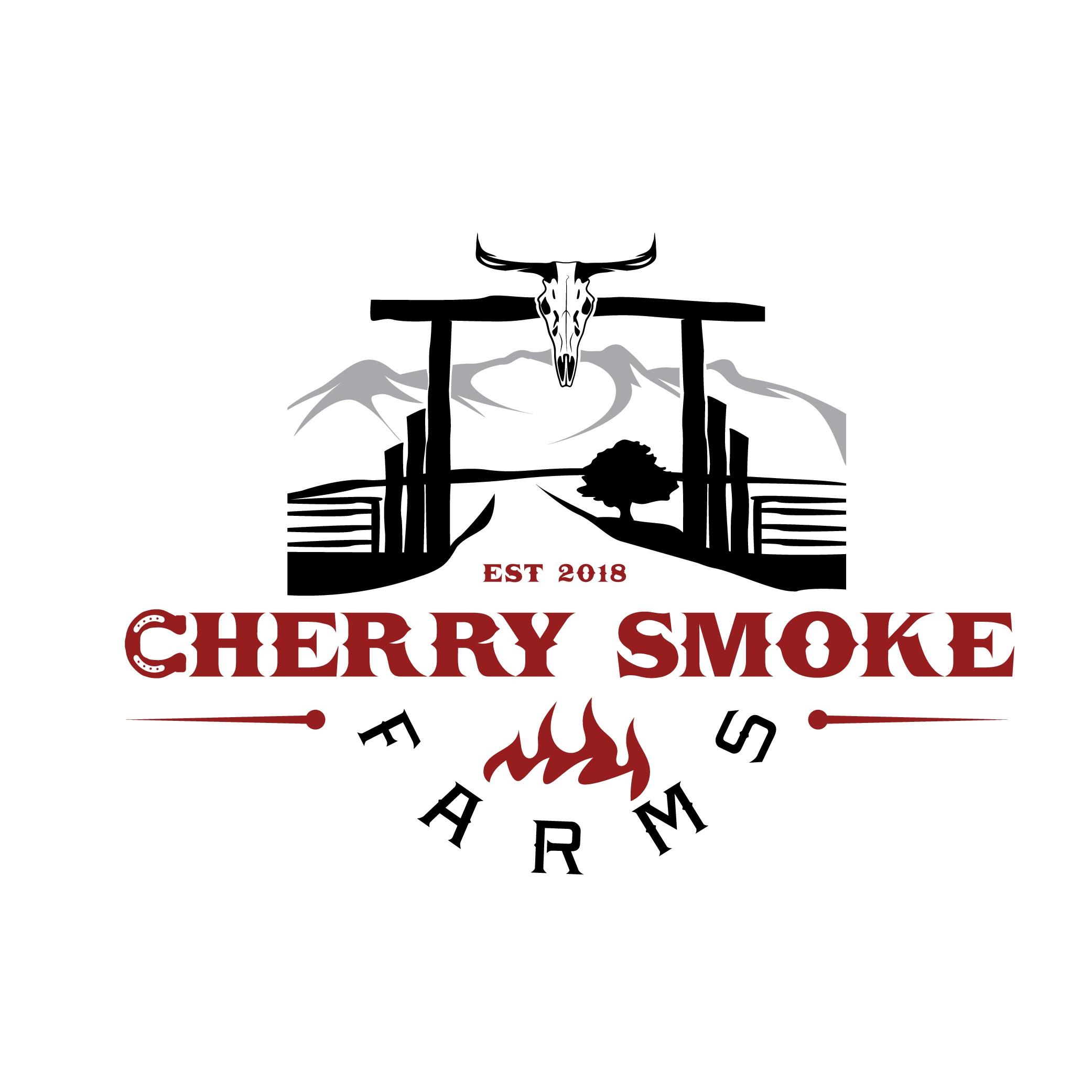Beef Jerky logo for Cherry Smoke Farms