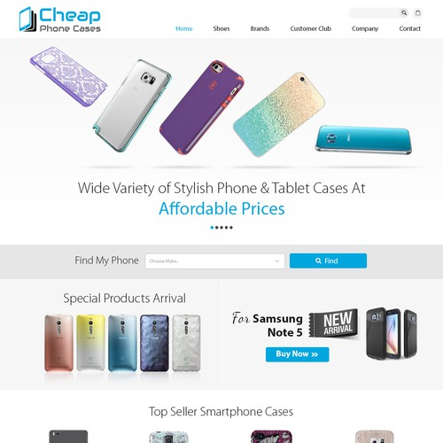 Mobile covers store design