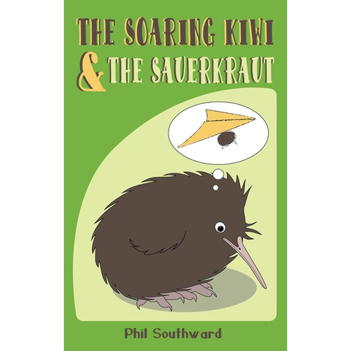 The Soaring Kiwi and the Sauerkraut - Create a humorous book cover