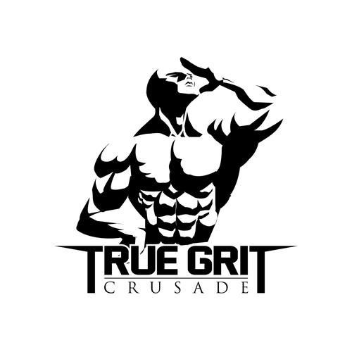 a logo concept for true grit crusade