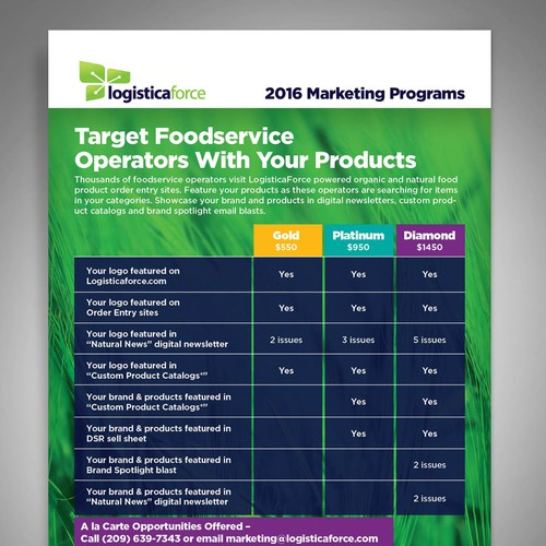 2016 Marketing Programs Flyer