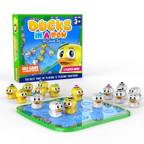 """Ducks in Row"" board game"
