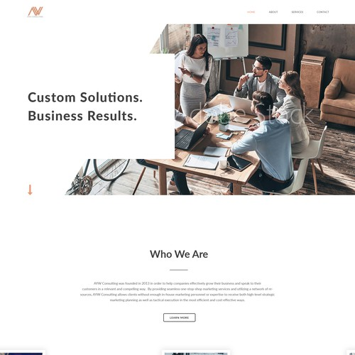 Creative website for marketing consulting