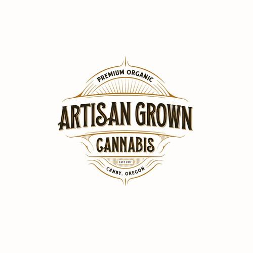 Logo for producers of high grade organic cannabis