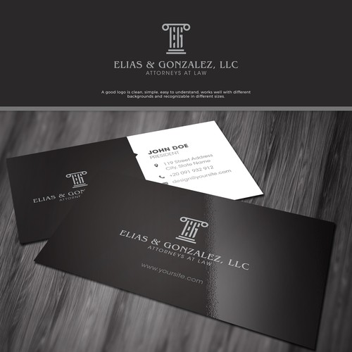 Elegant and Sophisticated Logo Design with Business Card